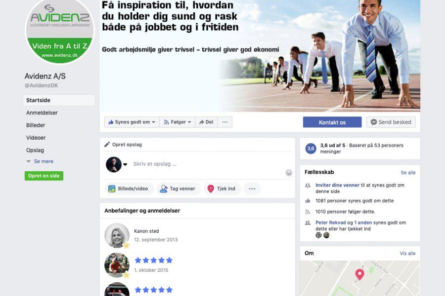 Avidenz – Facebook